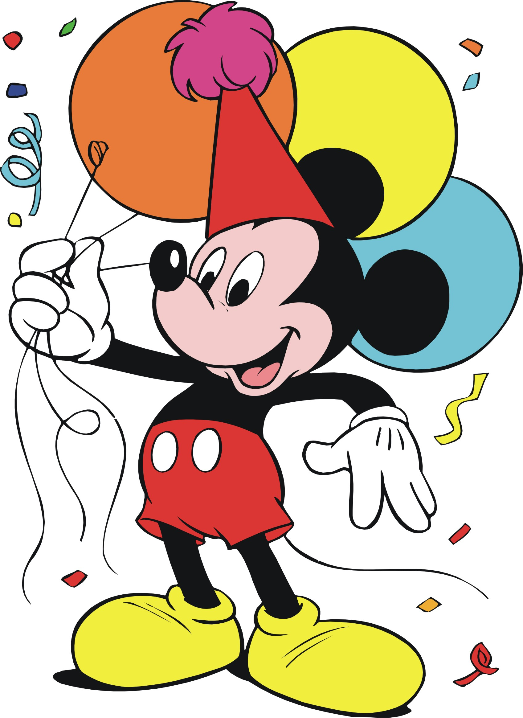 Mickey Mouse Birthday Clipart Free.
