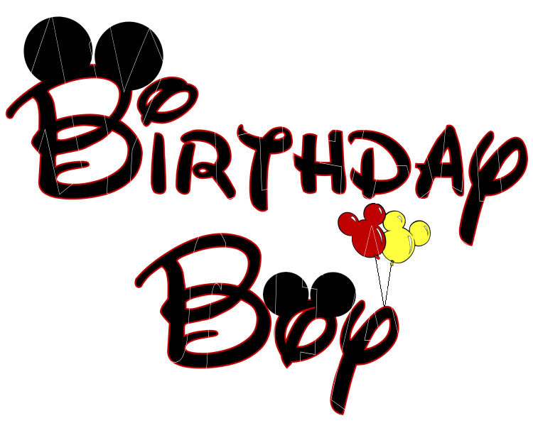 Mickey Mouse Birthday Clip Art N14 free image.