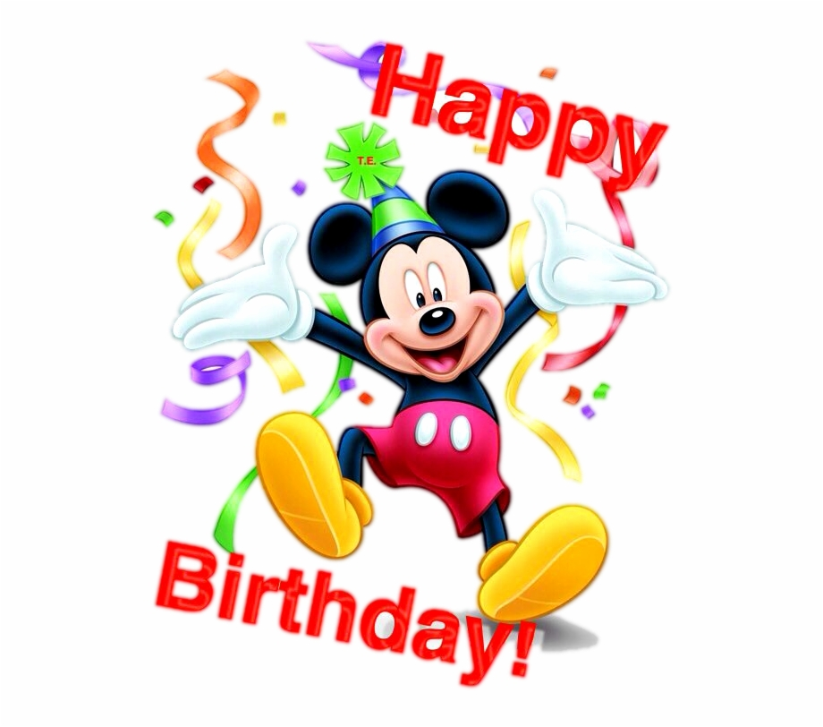 Mickey Mouse Happy Birthday Png.