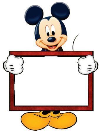 Mickey Mouse Page Border.