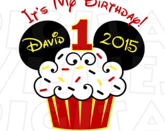 Mickey mouse 1st birthday shirt.