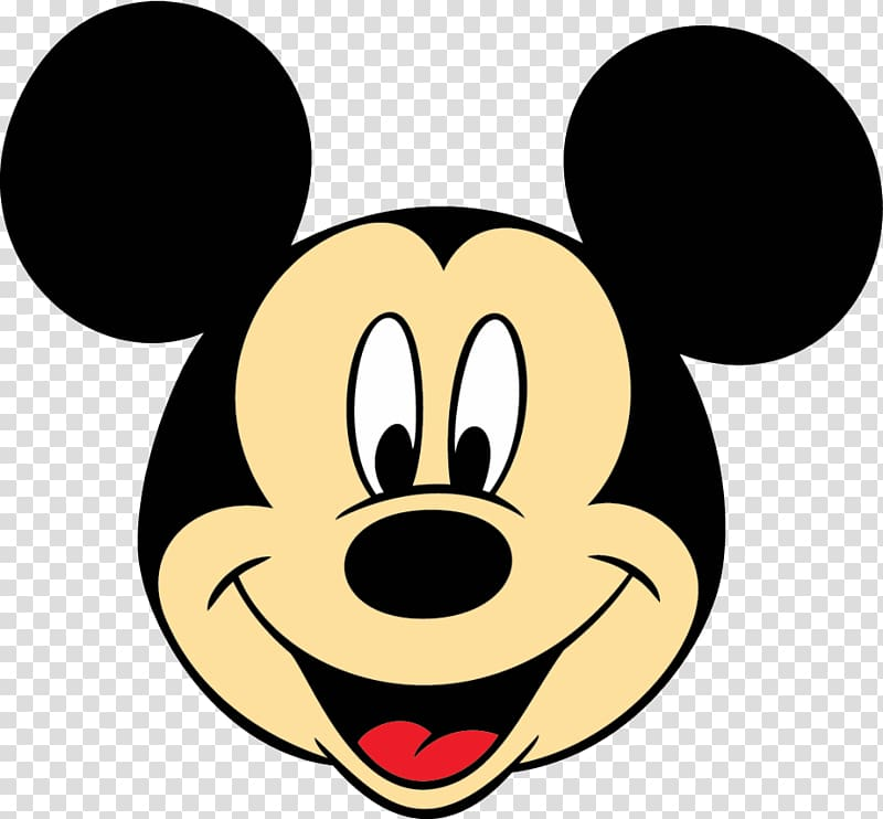 Mickey Mouse face illustration, Mickey Mouse Minnie Mouse.