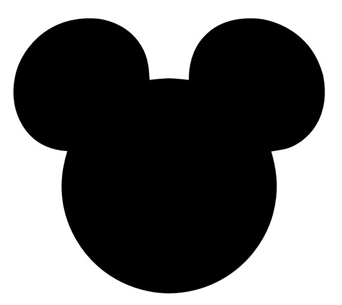 Free download Mickey Silhouette Clipart for your creation.
