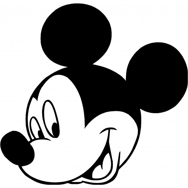 Free Mickey Mouse Black And White Face, Download Free Clip.