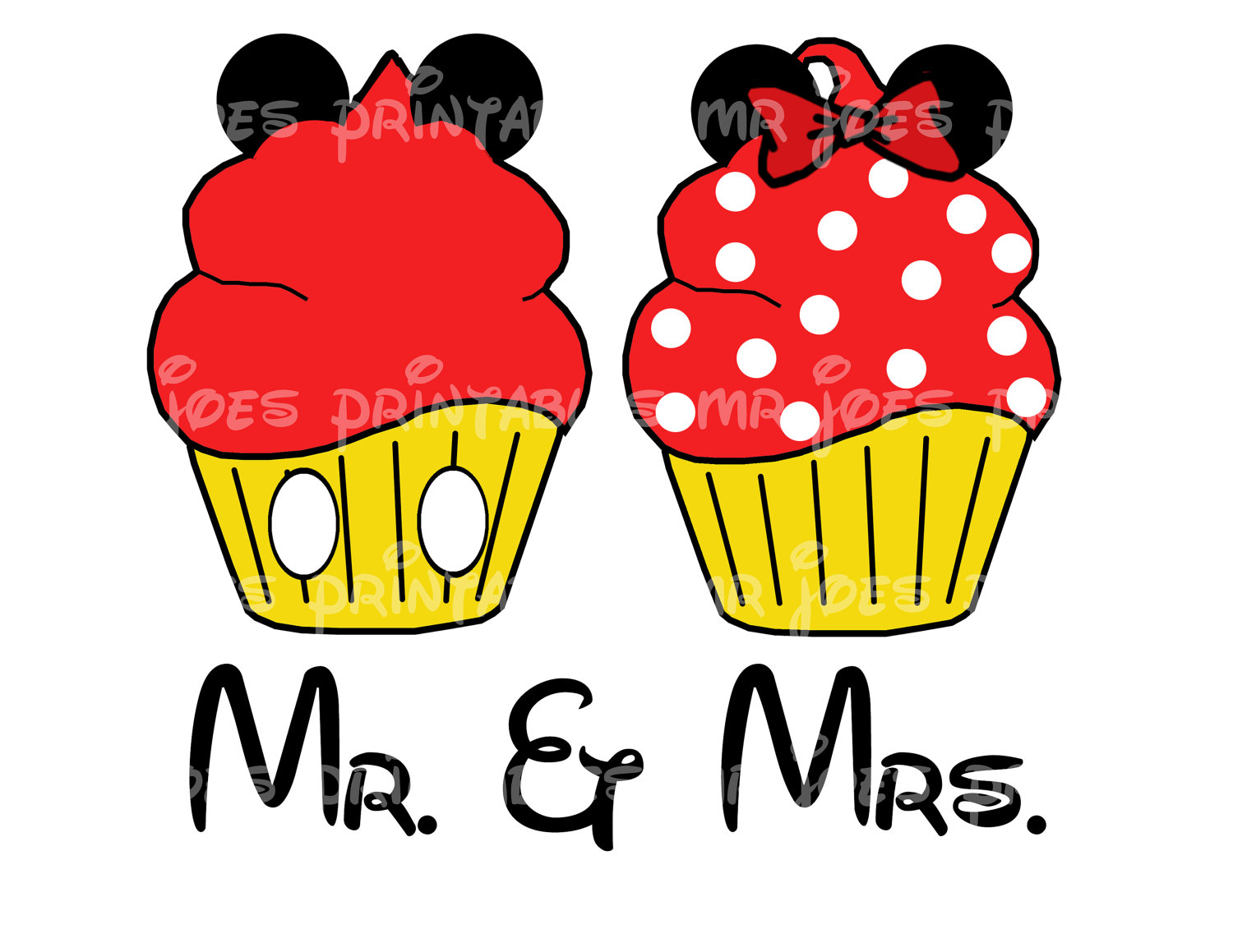 mickey mouse cupcake clipart