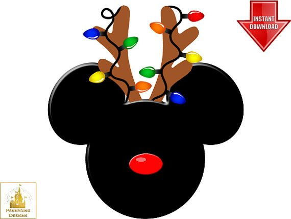 Reindeer Mickey Mouse Christmas Ears I'm Going to Disney.