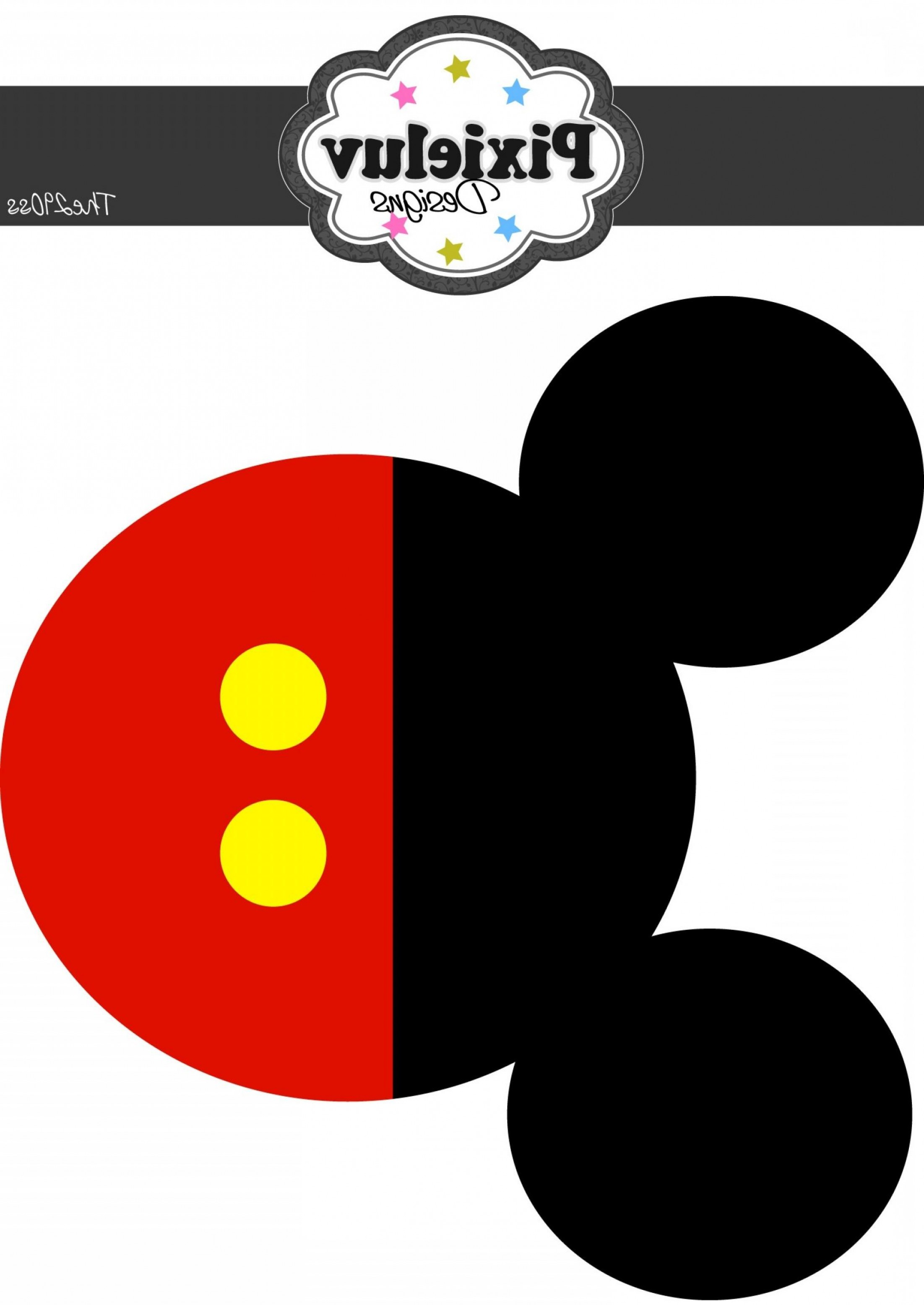 Best Free Mickey Mouse Head Template Garland Larger Size.