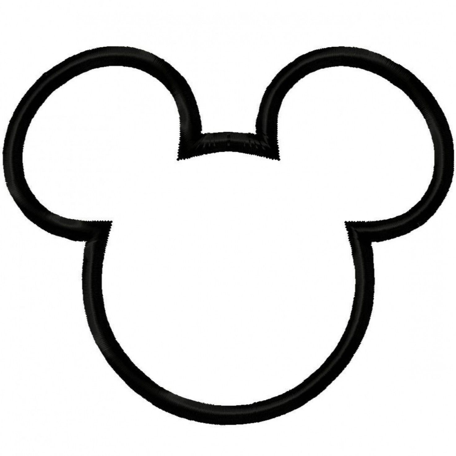 Mickey Vector: Mickey Mouse Ears Clipart Black And White.