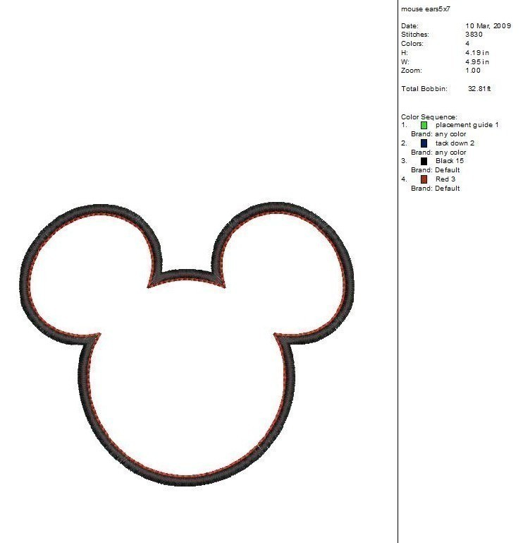 Mickey Mouse Ears Clip Art Outline free image.