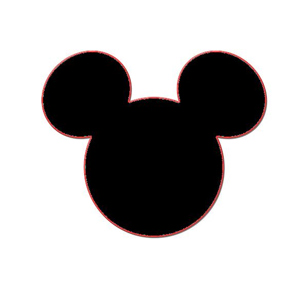 Head Mickey Mouse Ears Template Printable.