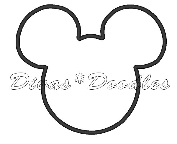 Free Mickey Mouse Ears Outline, Download Free Clip Art, Free.