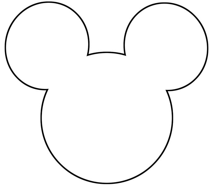 Minnie Mouse Outline Clipart.