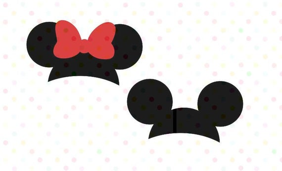 Mickey Mouse and Minnie Mouse Ears SVG, PNG, Instant Download, Cricut and  Silhouette Mickey head.
