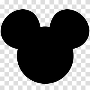 Black and white Pattern, Of Mickey Mouse Ears transparent.