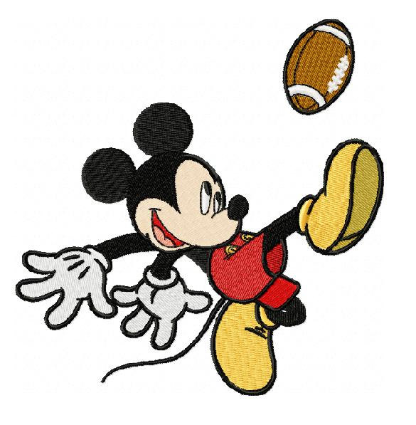 Mickey Mouse Playing Football Clipart.