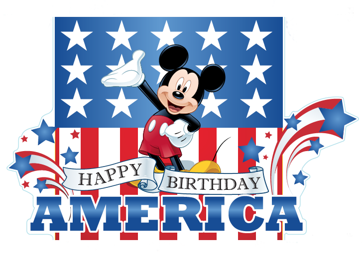 Download disney happy 4th of july clipart Mickey Mouse Walt.