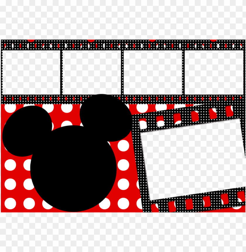 mickey mouse frame PNG image with transparent background.