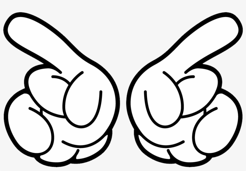 Mickey Mouse Hand Png Svg Download.