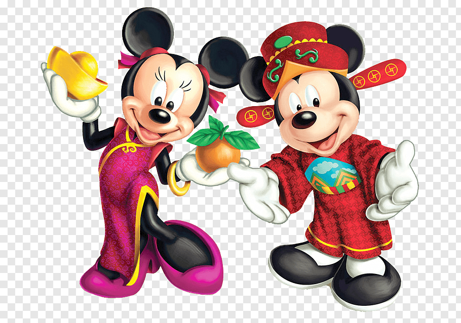 Wedding invitation Mickey Mouse Chinese New Year Greeting.