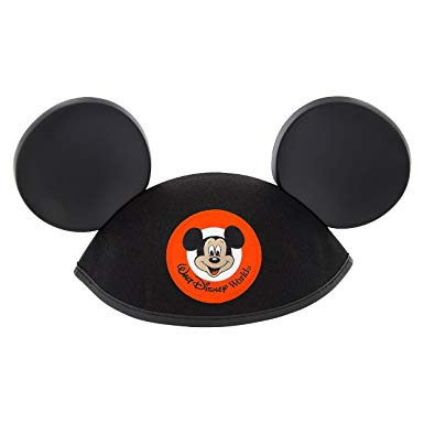 Walt Disney World Mickey Mouse Classic Black Patch Ears Hat Adult Size.