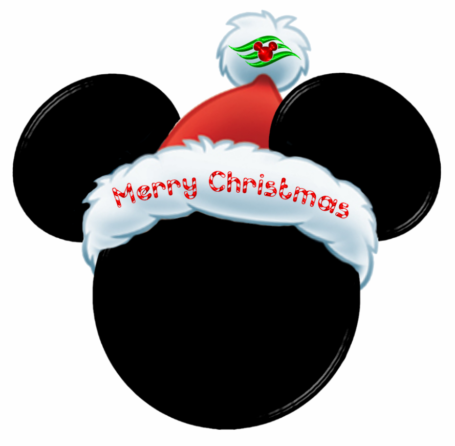 Merry Christmas Mickey Head.