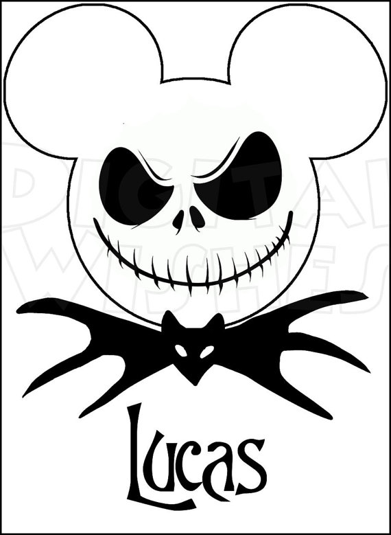 Mickey Mouse Head Jack Skeleton Clipart Clipground