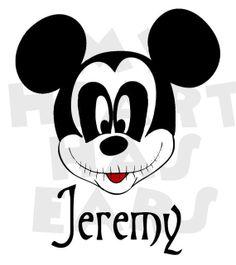 mickey mouse dressed as jack skellington instant download digital