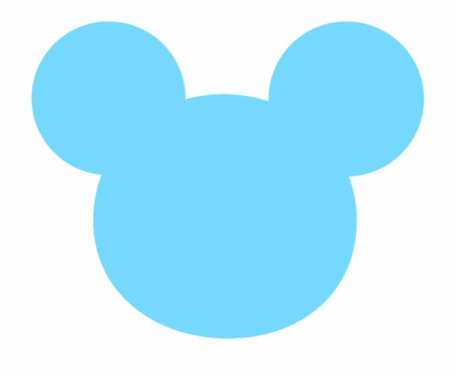 Blue Mickey Head Png.