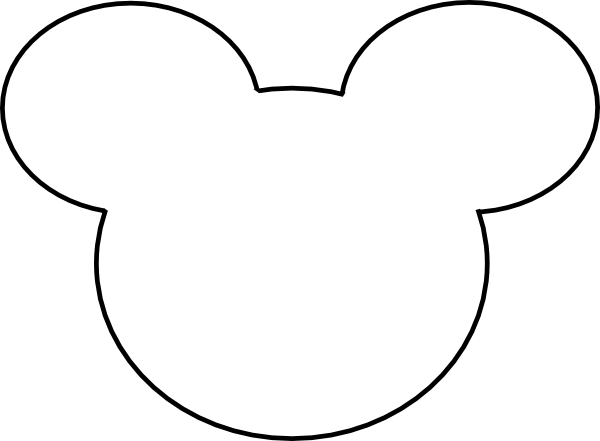 Mickey mouse head silhouette clipart clipground for Mickey mouse head shape template