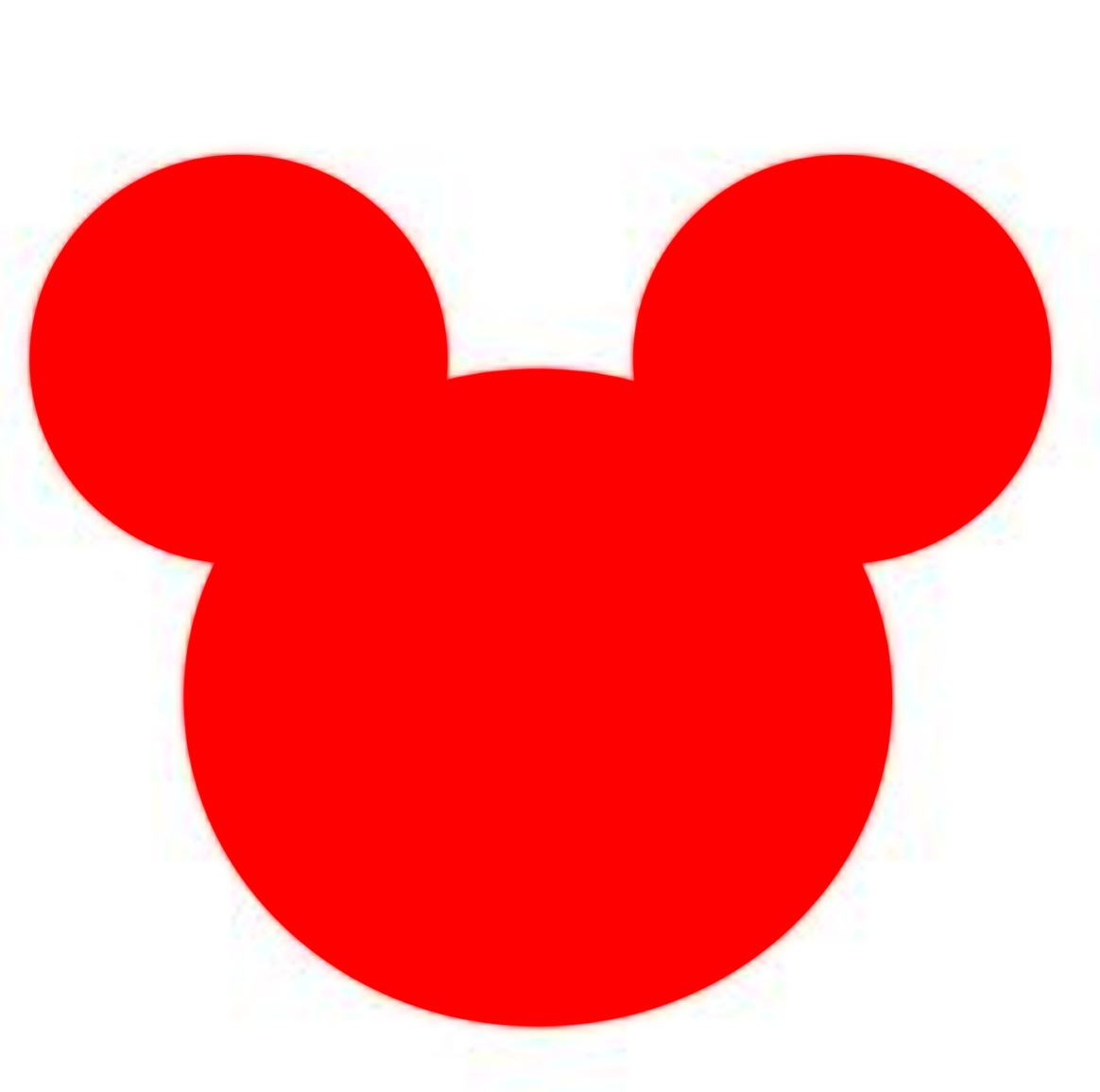Mickey Mouse Head Silhouette Vector.