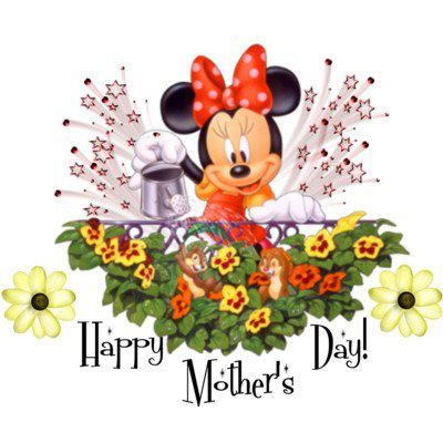 Happy Mother\'s Day with Minnie Mouse.