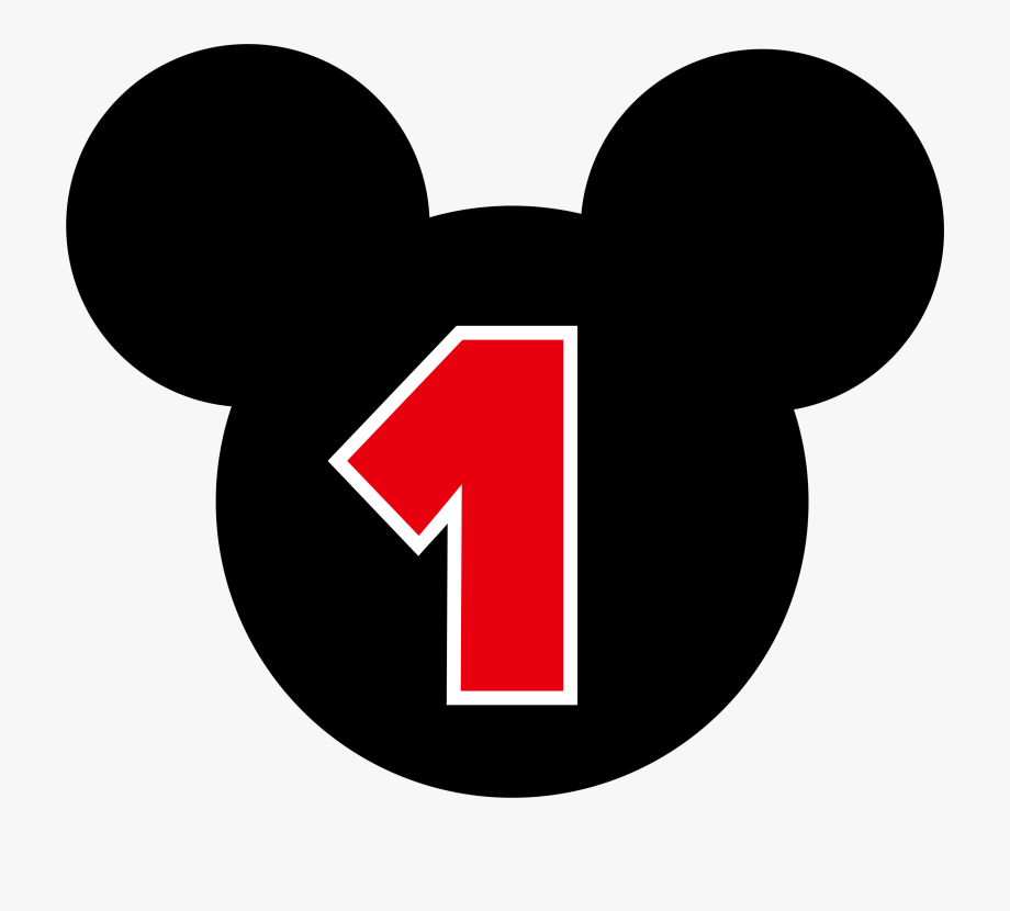 Mickey Mouse Number 1 Png.