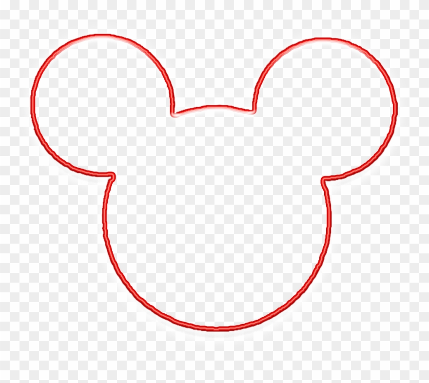 Clipart Bold And Modern Mickey Mouse Head Outline Clipart.