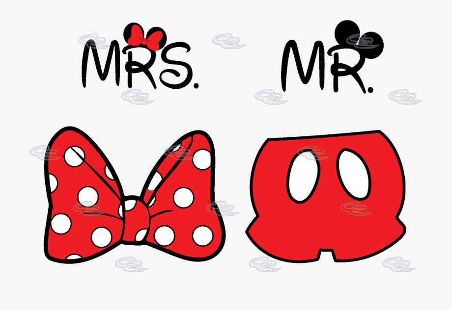 Cute Mr Mrs Matching Shirts, Minnie Mouse Polka Dots.