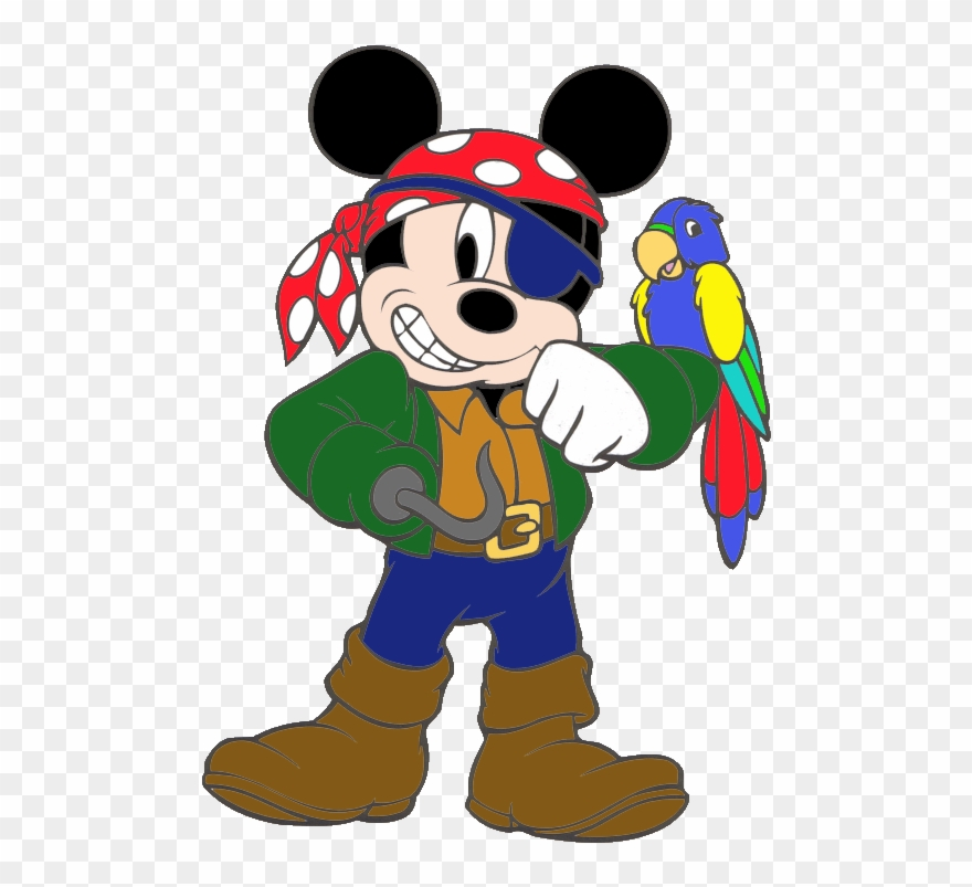 Mickey Mouse As A Pirate Clipart (#1190558).