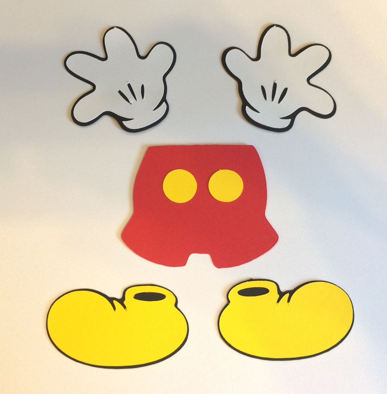 Mickey Mouse Shoes Clipart.