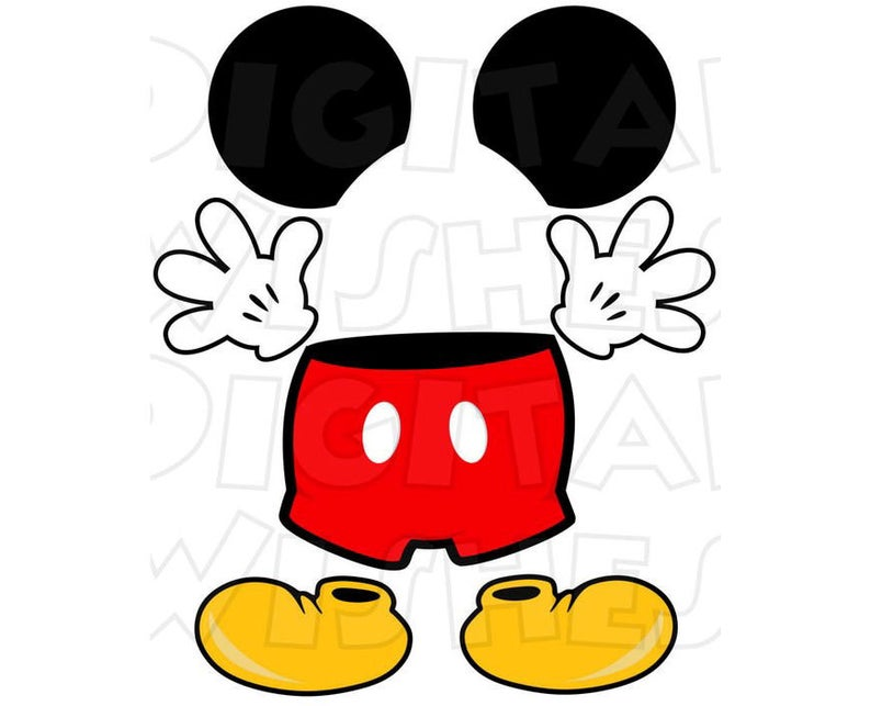 Mickey Mouse body parts for state room Disney cruise door INSTANT DOWNLOAD  digital clip art Image DIY for magnet.