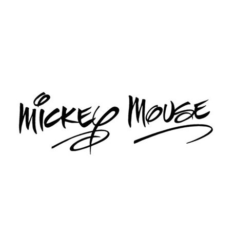 Mickey signature!!!! one day I will get one in real life.