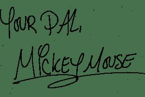 Mickey mouse signature clipart » Clipart Portal.