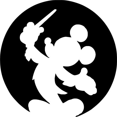 Mickey Mouse Silhouette Clipart Clipground