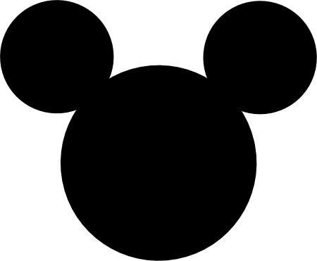 Mickey Mouse Clip Art Silhouette.