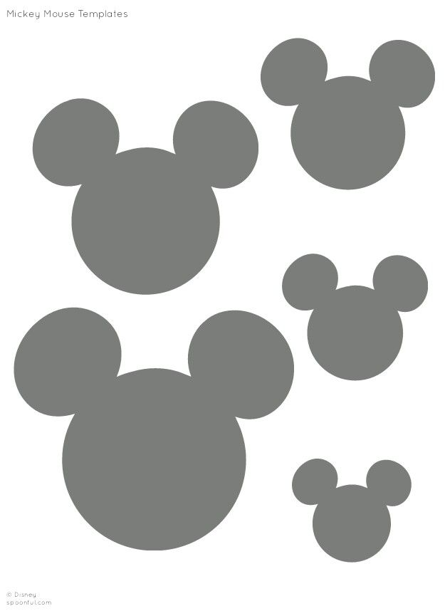 mickey mouse silhouette small clipart