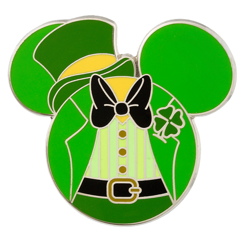 MICKEY MINNIE MOUSE ST PATRICKS DAY IRON ON HEAT T.