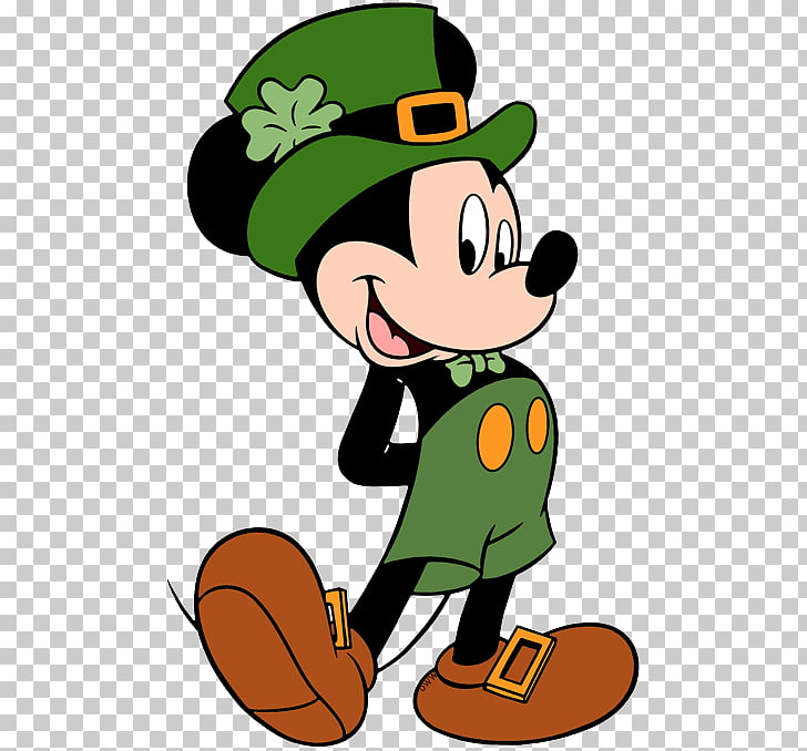 Mickey Mouse Minnie Mouse Saint Patrick\'s Day Donald Duck.
