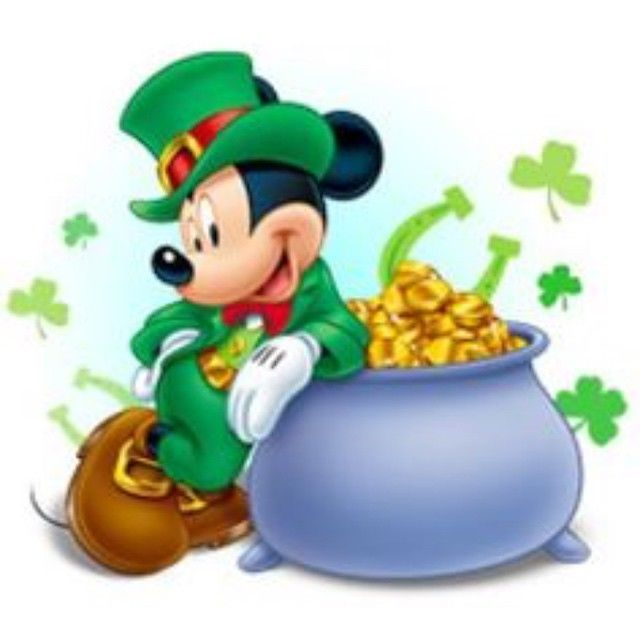 ST Patrick\'s Day Mickey Mouse Pictures, Photos, and Images.