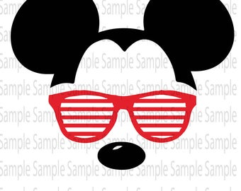 Mickey Mouse Sunglasses Svg Free.