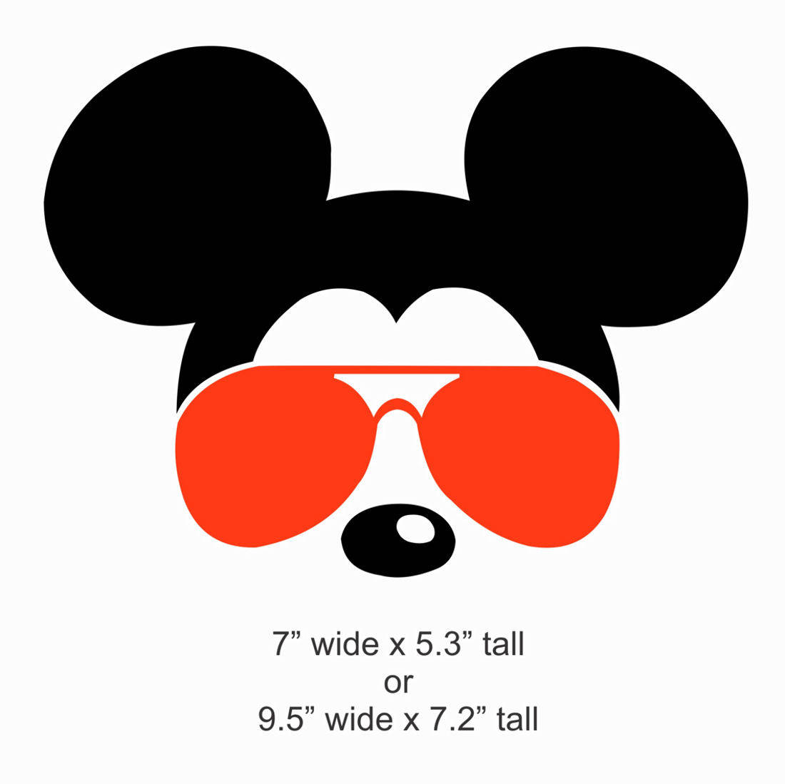 Mickey Mouse With Sunglasses Clipart.