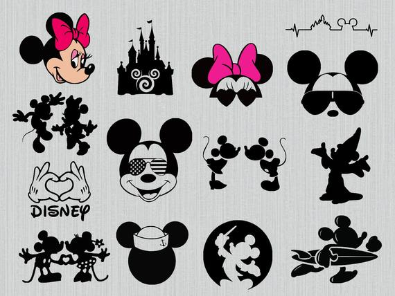 Walt Disney svg bundle, mickey mouse sunglasses svg, minnie mickey kissing  svg, disney castle svg, walt disney clipart, dxf, png.
