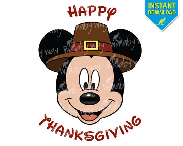 Best Mickey Mouse Thanksgiving Clipart #22500.