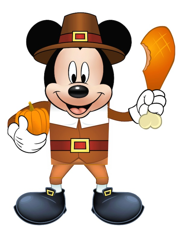 64+ Mickey Mouse Thanksgiving Clipart.